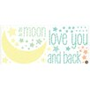 WallPops! WallPops I Love You To The Moon Wishes 49 Piece Wall Decal Set