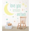 WallPops! WallPops I Love You To The Moon Wishes Wall Decal