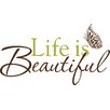 House of Hampton Altimore Life is Beautiful Phrases Wall Decal
