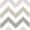 "WallPops! Zig Zag Peel and Stick 18' x 20.5"" Geometric Roll Wallpaper"