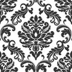 "WallPops! Ariel Damask Peel and Stick 18' x 20.5"" Geometric Roll Wallpaper"
