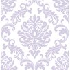 "WallPops! Ariel Peel and Stick 18' x 20.5"" Damask Roll Wallpaper"