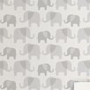 "WallPops! Elephant Parade Peel and Stick 18' x 20.5"" Animal Print Roll Wallpaper"