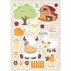 WallPops! Baby Farm 20 Piece Wall Decal Set