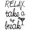 WallPops! Take a Break Quotes Wall Decal