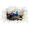 WallPops! Car Funny Panoramic Wall Decal