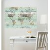 WallPops! Timber World Map Wall Decal