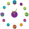 WallPops! Colorful Clock Wall Decal