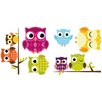 WallPops! Owl 6 Piece Wall Decal Set