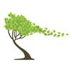 WallPops! Tree in the Wind Wall Decal