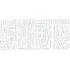 WallPops! Alphabet Letters 88 Piece Wall Sticker Set