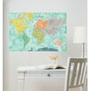 WallPops! Aquarelle World Map Wall Decal
