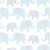 WallPops! Elephant Parade Peel And Stick Wallpaper