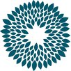 WallPops! Teal Mum Ceiling Medallion Decal