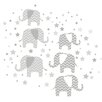 WallPops! Elephants a Ton of Love 110 Piece Wall Decal Set