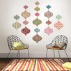 WallPops! Boho Chic Ogee 18 Piece Wall Decal Set