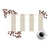 WallPops! Home Decor Line Coffee Weekly Calendar Wall Decal