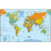 World dry erase map wall mural wayfair for Dry erase world map wall mural