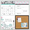 WallPops! Wall Art Kit Floral Medley Organizer Whiteboard Wall Decal