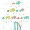 WallPops! Wall Art Kit Tag Along Elephants Wall Decal
