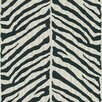"Brewster Home Fashions Echo Design 33' x 20.5"" Zebra Print 3D Embossed Wallpaper"