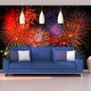 Brewster Home Fashions Ideal Décor Fireworks Wall Mural