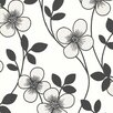 "Brewster Home Fashions Elements Freud Blossom Trail 33' x 20.5"" Floral Embossed Wallpaper"