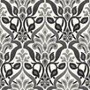 "Brewster Home Fashions Simple Space II Fusion Ombre 33' x 20.5"" Damask 3D Embossed Wallpaper"