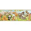 "Brewster Home Fashions Borders by Chesapeake Deirdre Jungle Pals Portrait 15' x 8.25"" Wildlife Border Wallpaper"