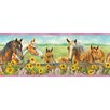 "Brewster Home Fashions Borders by Chesapeake Harmony Sunflowers Portrait 15'x 8.5"" Horses Border Wallpaper"