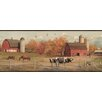 "Brewster Home Fashions Outdoors Winslow American Farmer Portrait 15' x 7.5"" Scenic 3D Embossed Border Wallpaper"