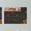 Brewster Home Fashions WallPops Eden Monthly Calendar with Notes Chalkboard Wall Decal