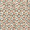 "Brewster Home Fashions Kismet Free Spirit 33' x 20.5"" Floral 3D Embossed Wallpaper"