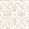 """Brewster Home Fashions Kismet Off Beat Ethnic 33' x 20.5"""" Floral 3D Embossed Wallpaper"""