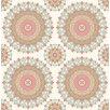 "Brewster Home Fashions Kismet Gemma Boho Medallion 33' x 20.5"" Wallpaper"