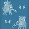 "Brewster Home Fashions Kismet Ophelia 33' x 20.5"" Elephant 3D Embossed Wallpaper"