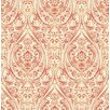 "Brewster Home Fashions Kismet Gypsy 33' x 20.5"" Damask 3D Embossed Wallpaper"