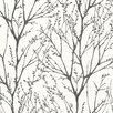 "Brewster Home Fashions Bath Bath Bath Volume IV Delamere Tree Branches 33' x 20.5"" Wallpaper"