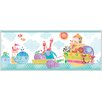 """Brewster Home Fashions Hide and Seek Noah and Friends Animal 15' x 8"""" Wildlife 3D Embossed Border Wallpaper"""