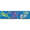 """Brewster Home Fashions Hide and Seek Samantha Rainbow Sea Critters 15' x 6"""" Scenic 3D Embossed Border Wallpaper"""