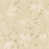 "Brewster Home Fashions Bath Bath Bath Volume IV Nessa Satin Leaf Motif 33' x 20.5"" Botanical 3D Embossed Wallpaper"