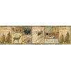 "Brewster Home Fashions Echo Lake Lodge Attitash Deer Camp 15' x 6"" Wildlife Border Wallpaper"
