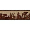 "Brewster Home Fashions Echo Lake Lodge Shawnee Silhouettes 15' x 6.75"" Wildlife 3D Embossed Border Wallpaper"