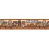 """Brewster Home Fashions Kitchen, Bed And Bath Resource IV Kansas Country 15' x 6.88"""" Border Wallpaper"""