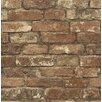 "Brewster Home Fashions Gentlemen's Quarters Oxford 33' x 20.5"" Brick Wallpaper"