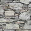 "Brewster Home Fashions Historic 2' x 20.5"" Stone Wallpaper"