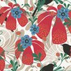 "Brewster Home Fashions Wall Vision 33' x 20.9"" Waiola Tropical Floral Wallpaper"