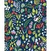 "Brewster Home Fashions Wall Vision 33' x 20.9"" Herbarium Floral Motif Wallpaper"