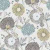 "Brewster Home Fashions Wall Vision 33' x 20.9"" Valda Modern Floral Wallpaper"