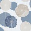 "Brewster Home Fashions Wall Vision 33' x 20.9"" Raelyn Floral Geometric Wallpaper"